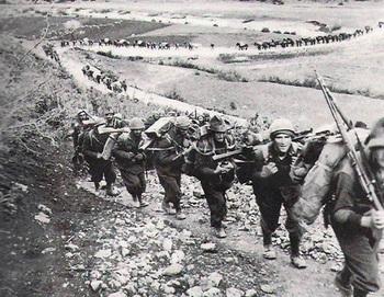 3rd Alpine Division Julia marching through the Balkans to Greece.jpg