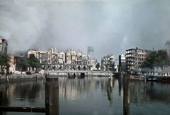 Aftermath of bombardment Rotterdam, Holland on the 14th of May 1940.jpg