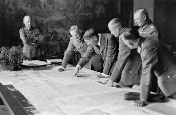 Alfred Jodl Franz Halder and Walther von Brauchitsch and Wilhelm Keitel.jpg