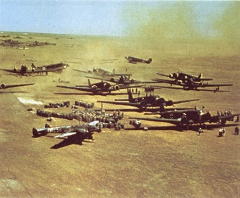 Aparently a Luftwaffe airbase in the desert. North Africa 1941.jpg