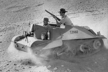 Armored vehicle Bren Carrier was in service with the Australian mounted troops in North Africa.jpg