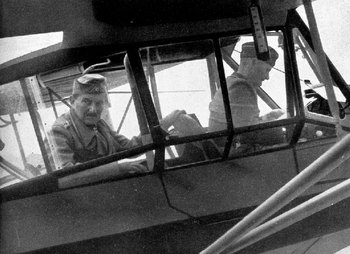 Colonel-General Ritter von Schobert and his pilot before their last flight on 12 September 1941.jpg