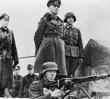 Erwin Rommel inspecting beach defenses in German-occupied.jpg