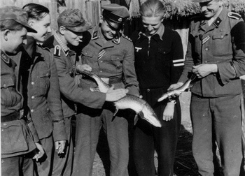 Fishing stories from Ostfront! Soldiers from Germania regiment have had good fishing luck.jpg