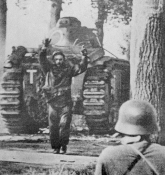 French soldier surrenders to Germans, Battle of France, 1940.jpg