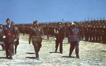 Generalfeldmarschall Wolfram Freiherr von Richthofen inspects Legion Condor in Spain, May 1939.jpg