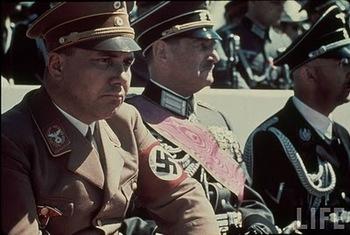 Heinrich Himmler, S_A_ Brigadier Gen_ Franz Ritter von Epp & Nazi Reichsleiter Martin Bormann attending Reichs Veterans Day.jpg