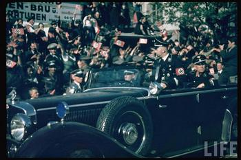 Himmler in Graz, Austria during Hitler's Austrian election campaign, April 1938.jpg