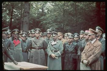 Hitler (L, in brown) inspecting West Wall, w. (2L-R) engineer Fritz Todt, Martin Bormann & Heinrich Himmler.jpg