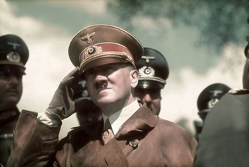 Hitler during maneuvers at St. Poelten in Austria.jpg