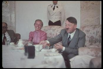 Hitler eats with his personal physician, Professor Theodor Morell.jpg
