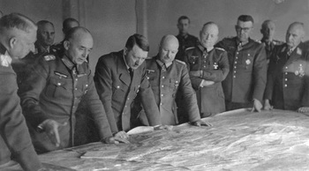 Hitler in military briefing_ Manstein, Ruoff, Hitler, Zeitzler, Kleist, Kempf, Richthofen, March 1943.jpg