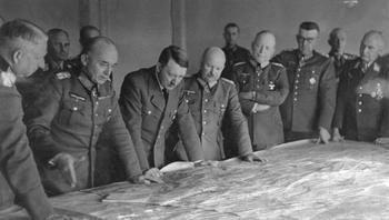 Hitler in military briefing_ Manstein, Ruoff, Hitler, Zeitzler, Kleist, March _1943.jpg
