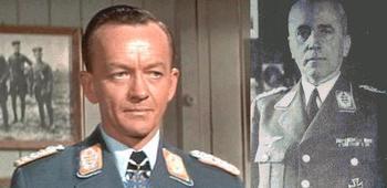 Johannes Messemer as Von Luger & von Lindeiner-Wildau, Kommandant of Stalag Luft III..JPG