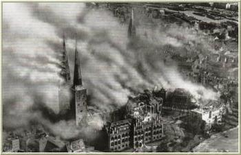 Luebeck, Germany, after RAF bombs, March 1942.jpg