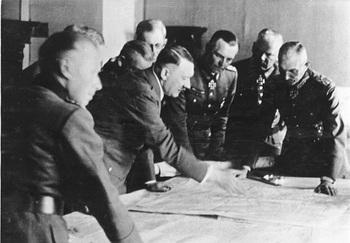 Max von Weichs, Adolf Hitler, Friedrich Paulus, Eberhard von Mackensen and General Field Marshal Fedor von Bock. June 1942.jpg