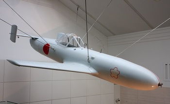Ohka (replica)_Yasukuni Shrine Museum.jpg