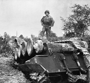 Panzer Lehr Panther XXX destroyed by Operation Cobra bombs.jpg