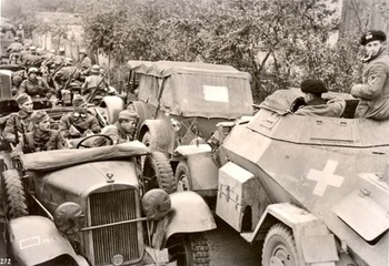 Poland, September 1939, German motorized units on their way to the front..jpg
