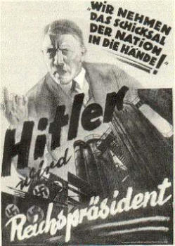 Poster of NSDAP in Weimar Republic calling Hitler for President of the Reich.jpg