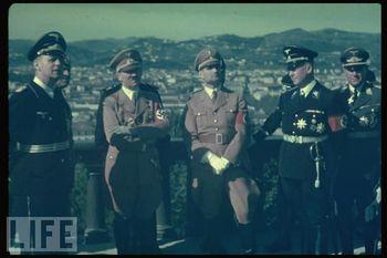 Ribbentrop, Mussolini (almost hidden), Hitler, Hess, Lammers.jpg