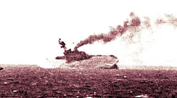 The aircraft carrier HMS Eagle sinks after being torpedoed.jpg