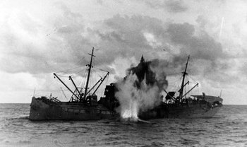 U-boat attacked a convoy.jpg