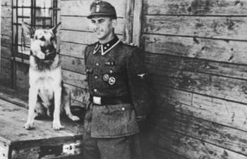 Waffen-SS and his German shepherd.jpg