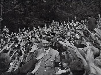 1930s Nazi Fuhrer Adolf Hitler Greeting Crowds at Obersalzberg.jpg