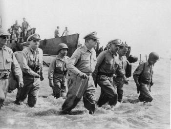 1944. General Douglas MacArthur's liberating forces landed on the Leyte shores,.jpg