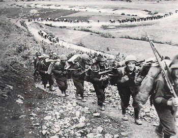 3rd Alpine Division Julia marching through the Balkans to Greece.jpg