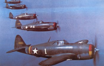 A group of early P-47 of the 56th group. 1942.jpg