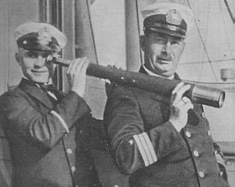 A twenty-one year old Günther Prien (at left) with First Officer Bussler, aboard the liner San Francisco in 1929..jpg