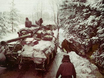 American Sherman M4 Tank at the Battle of the Bulge.jpg