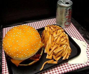 Burger and fries with diet Coke.jpg