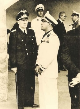 Ciano is standing with Hitler's interpreter Paul Schmidt..jpg