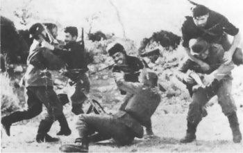 Cretan Guerillas attacking German soldiers.jpg