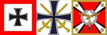 Flagge des Oberbefehlsharber des Heeres_Flagge des Oberbefehlshaber der Kriegsmarine, sofern er nicht Grossadmiral ist_Flagge des Reichsminister der Luftfahrt und Oberbefehlshaber der Luftwaffe.jpg