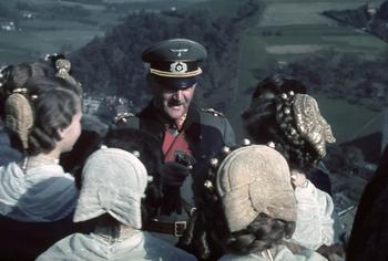 Franz Ritter von Epp with local women of Sudetenland..jpg