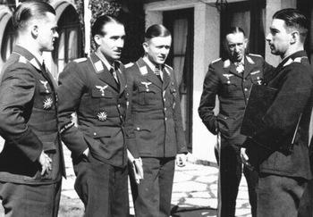 G. Lützow, A. Galland, G. Freiherr von Maltzahn, T. Osterkamp, W. Mölders.jpg