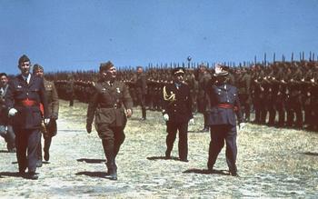 Generalfeldmarschall Wolfram Freiherr von Richthofen inspects Legion Condor in Spain, May 1939.jpg