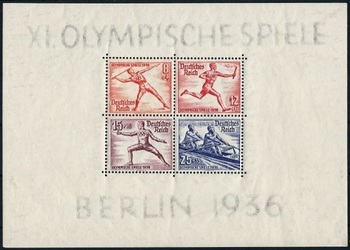 German Reich 1936 - Miniature sheet - XI. Olympische Spiele Berlin 1936.jpg
