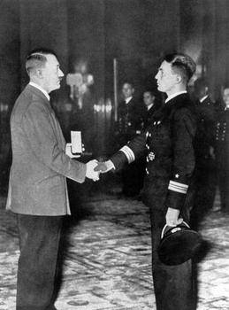 Gunther Prien receives a medal from Adolf Hitler.jpg