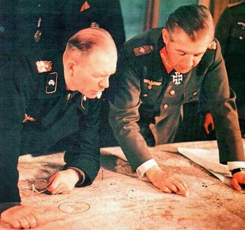 Heinz Guderian Walther Wenck operation map discussing strategy.jpg