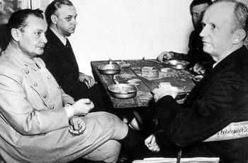 Hermann Göring, Alfred Rosenberg, Baldur von Schirach and Karl Dönitz.jpg