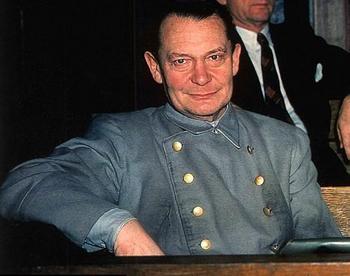 Hermann Goering Nuremberg trials in 1946.jpg