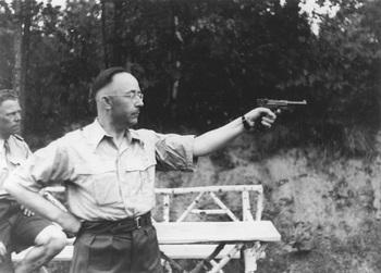 Himmler aiming a pistol P08.jpg