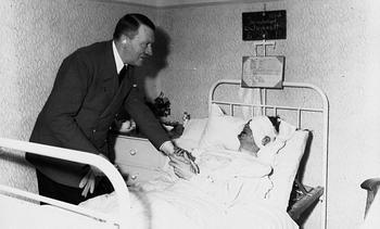 Hitler Visits General Schmundt in the Hosptial.JPG