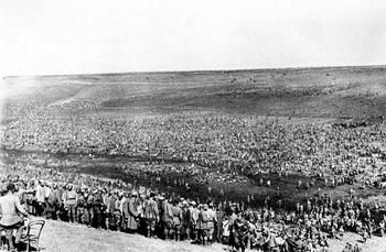 In the initial months of Barbarossa millions of Russian soldiers surrendered.jpg