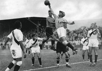 Peru's Olympic football team in action, Berlin Olympics, 1936.jpg